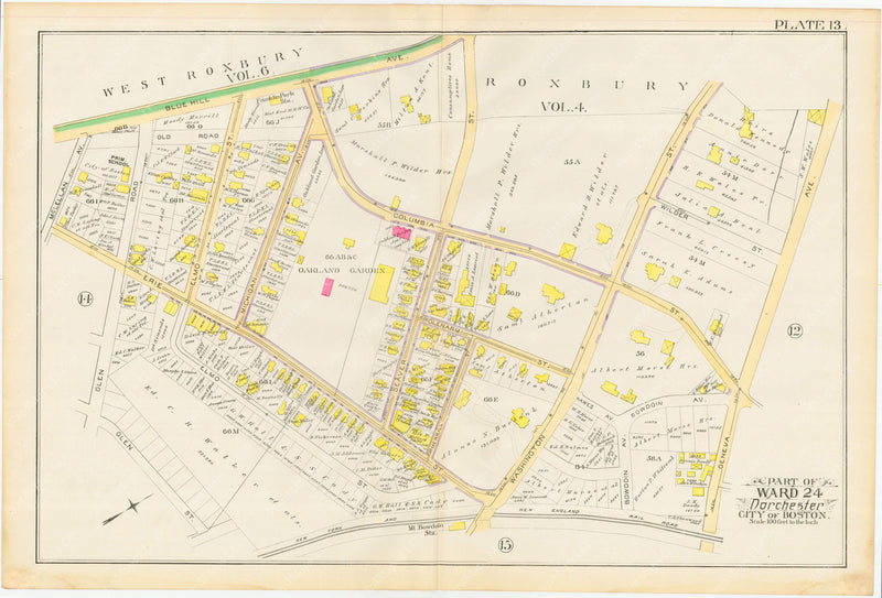 Dorchester, Massachusetts 1889 Plate 013