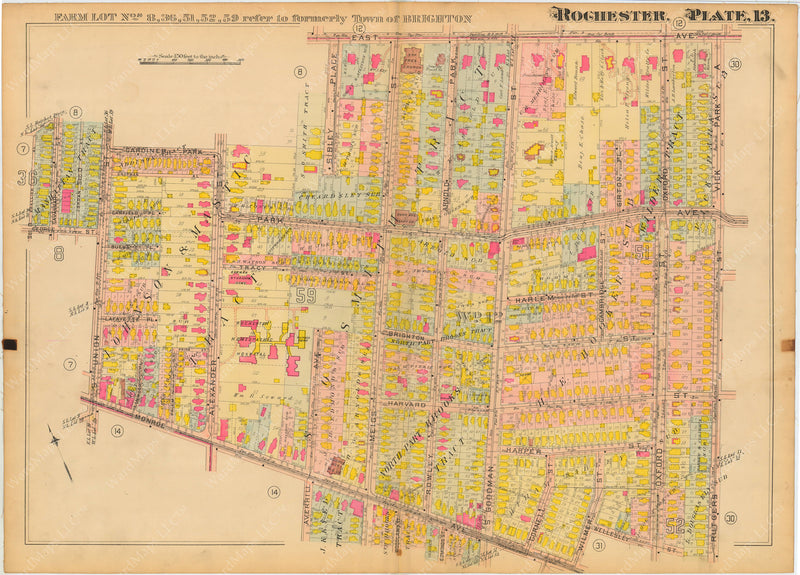 Rochester, New York 1910 Plate 013