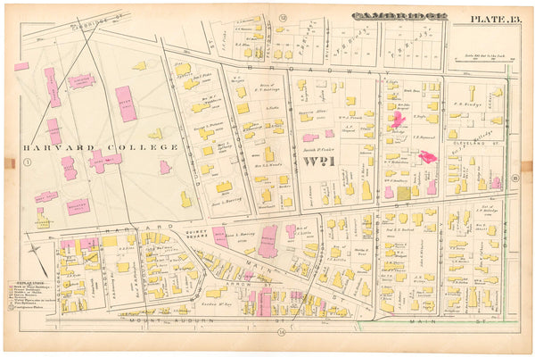 Cambridge, Massachusetts 1886 Plate 013