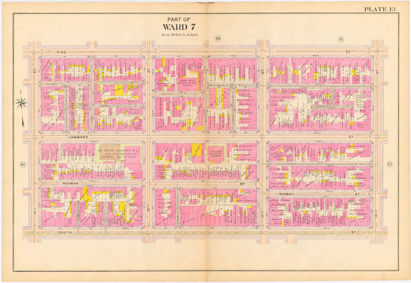 Philadelphia, Pennsylvania 1908, 5th, 7th, and 8th Wards: Plate 013