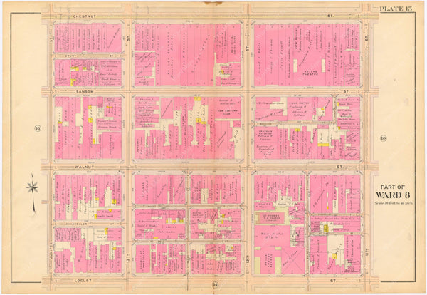 Philadelphia, Pennsylvania 1908, 5th, 7th, and 8th Wards: Plate 015