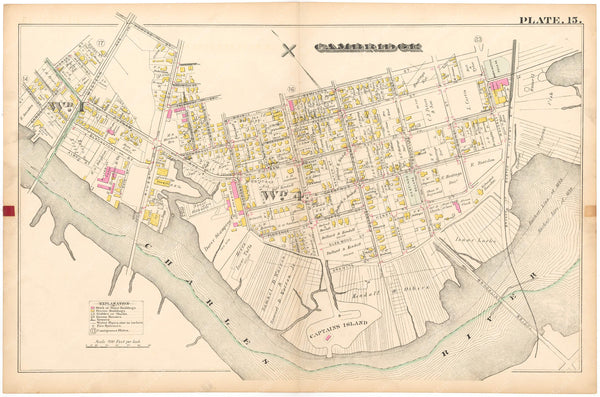 Cambridge, Massachusetts 1886 Plate 015