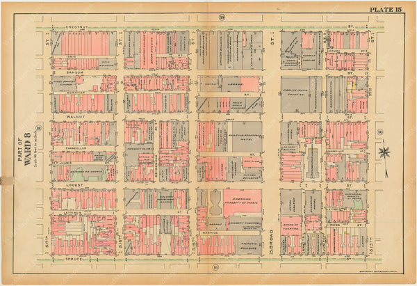 Philadelphia, Pennsylvania, 1927, 5th to 10th Wards: Plate 015