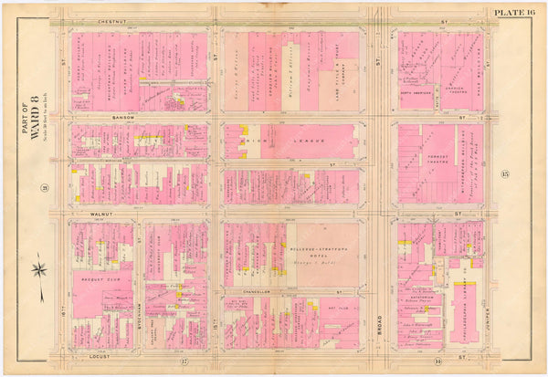 Philadelphia, Pennsylvania 1908, 5th, 7th, and 8th Wards: Plate 016