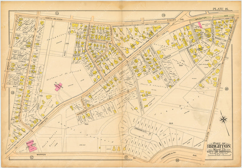 Brighton, Massachusetts 1897: Plate 016