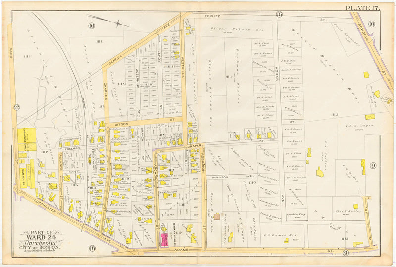Dorchester, Massachusetts 1889 Plate 017