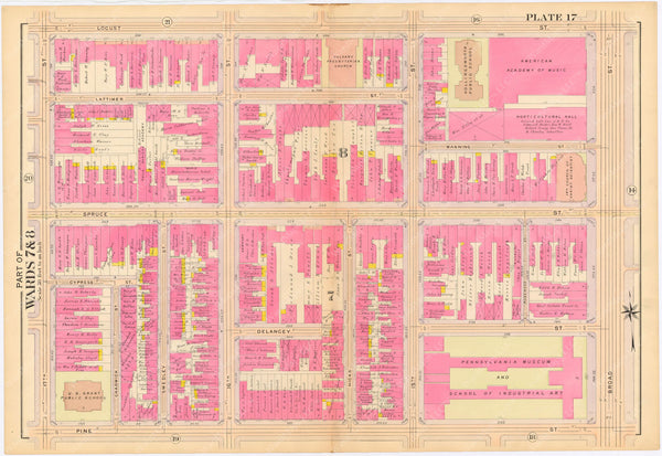 Philadelphia, Pennsylvania 1908, 5th, 7th, and 8th Wards: Plate 017