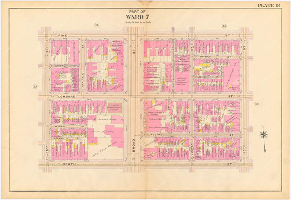 Philadelphia, Pennsylvania 1908, 5th, 7th, and 8th Wards: Plate 018