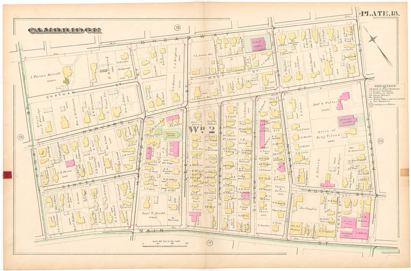 Cambridge, Massachusetts 1886 Plate 018
