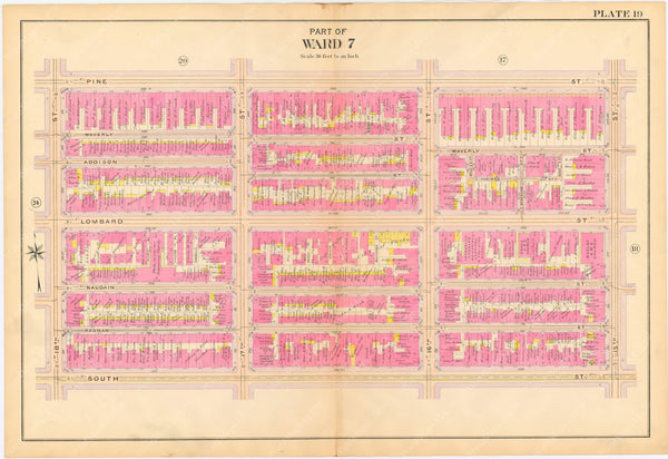 Philadelphia, Pennsylvania 1908, 5th, 7th, and 8th Wards: Plate 019
