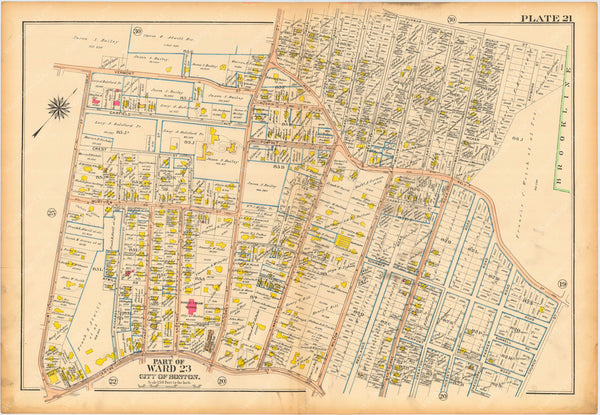 West Roxbury, Massachusetts 1914 Plate 021: Jamaica Plain