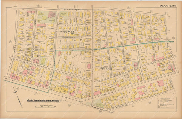 Cambridge, Massachusetts 1886 Plate 022
