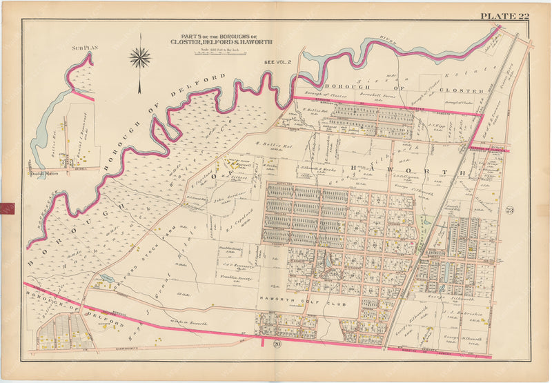 Bergen County, New Jersey, Vol. 1, 1912 Plate 022: Closter, Delford, Haworth