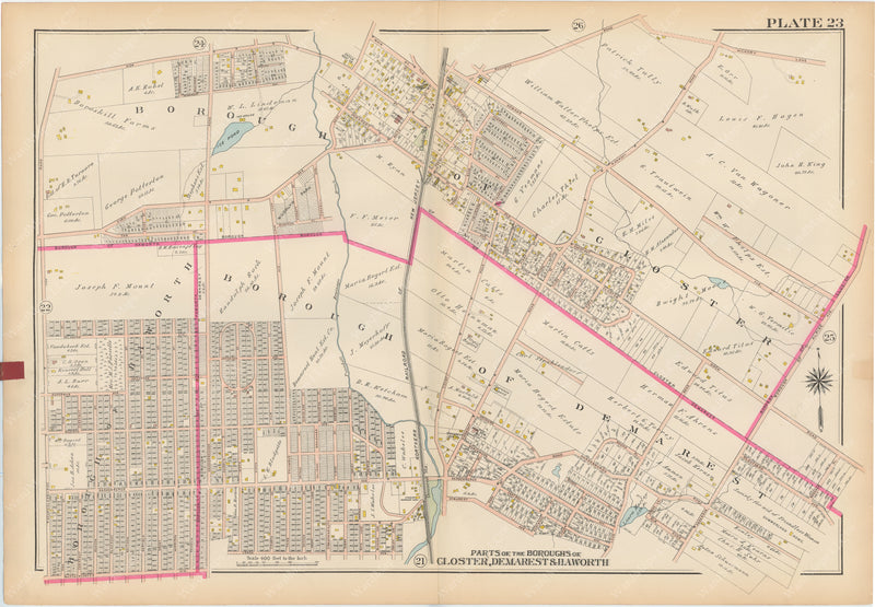 Bergen County, New Jersey, Vol. 1, 1912 Plate 023: Closter, Demarest, Haworth