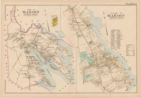 Plymouth County, Massachusetts 1903 Plate 023: Marion