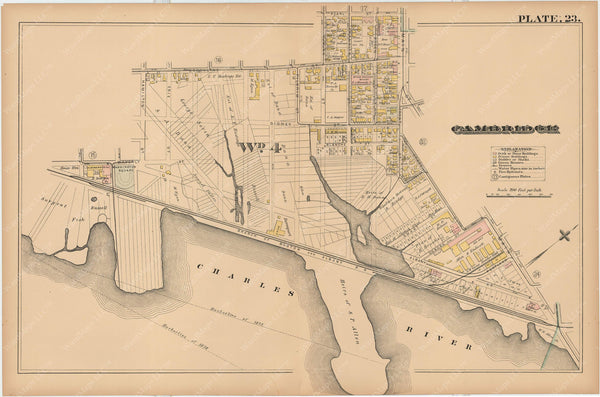Cambridge, Massachusetts 1886 Plate 023