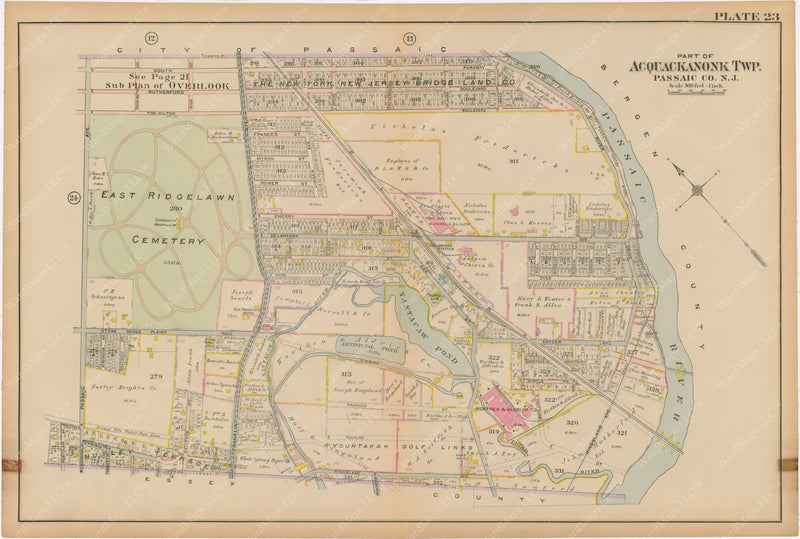 Passaic and Acquackanonk, New Jersey 1916 Plate 023