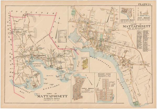 Plymouth County, Massachusetts 1903 Plate 024: Mattapoisett