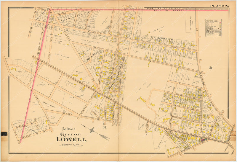 Lowell, Massachusetts 1896 Plate 024