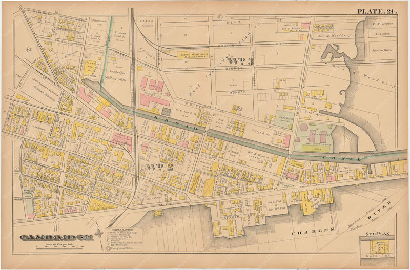 Cambridge, Massachusetts 1886 Plate 024