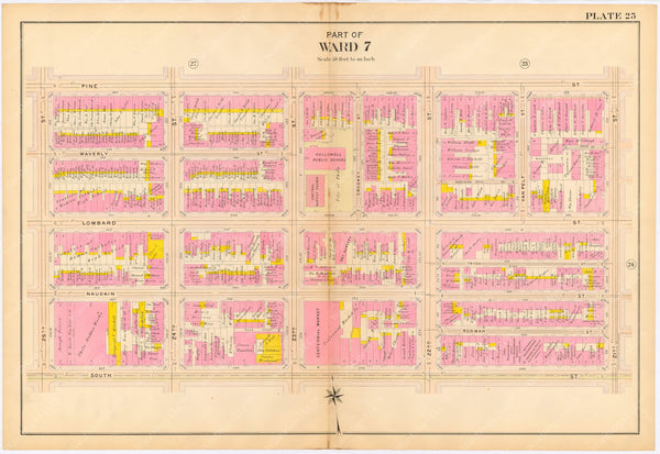 Philadelphia, Pennsylvania 1908, 5th, 7th, and 8th Wards: Plate 025