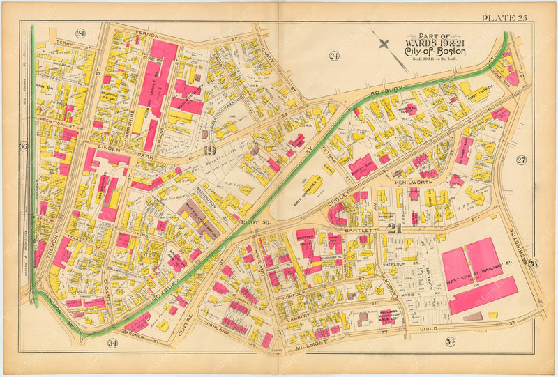 Boston and Roxbury, Massachusetts 1890 Plate 025