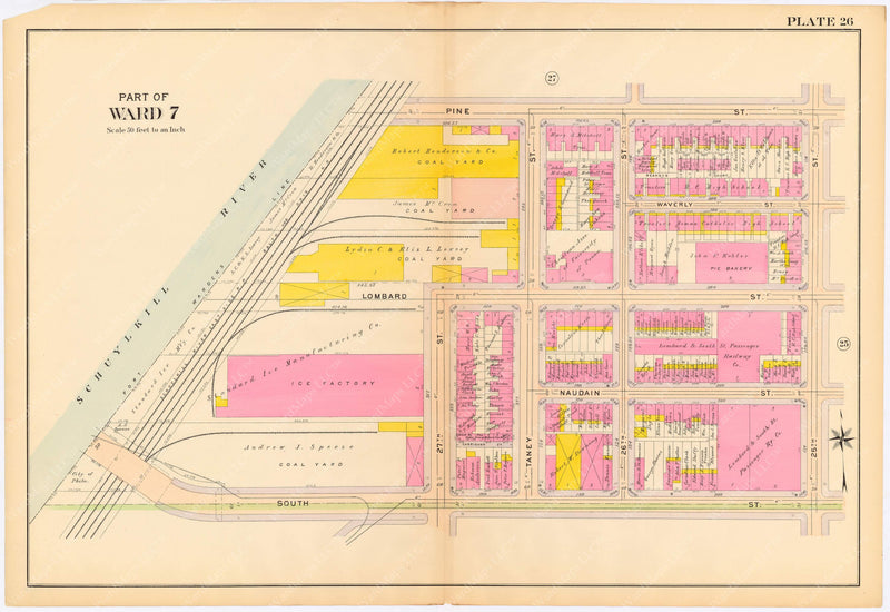 Philadelphia, Pennsylvania 1908, 5th, 7th, and 8th Wards: Plate 026