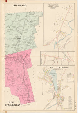 Berkshire County, Massachusetts 1904 Plate 026: Richmond and West Stockbridge