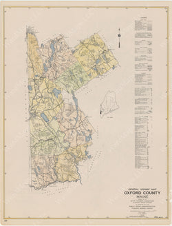 Maine Highway Atlas 1938: Oxford County 4 of 4