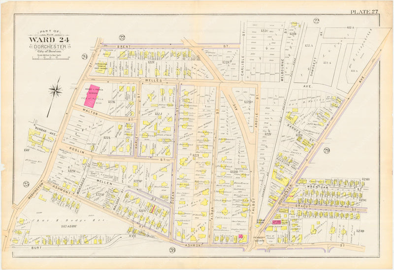 Dorchester, Massachusetts 1894 Plate 027