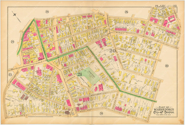 Boston and Roxbury, Massachusetts 1890 Plate 027
