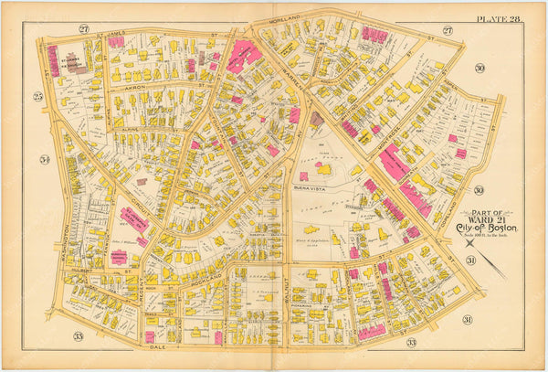 Boston and Roxbury, Massachusetts 1890 Plate 028