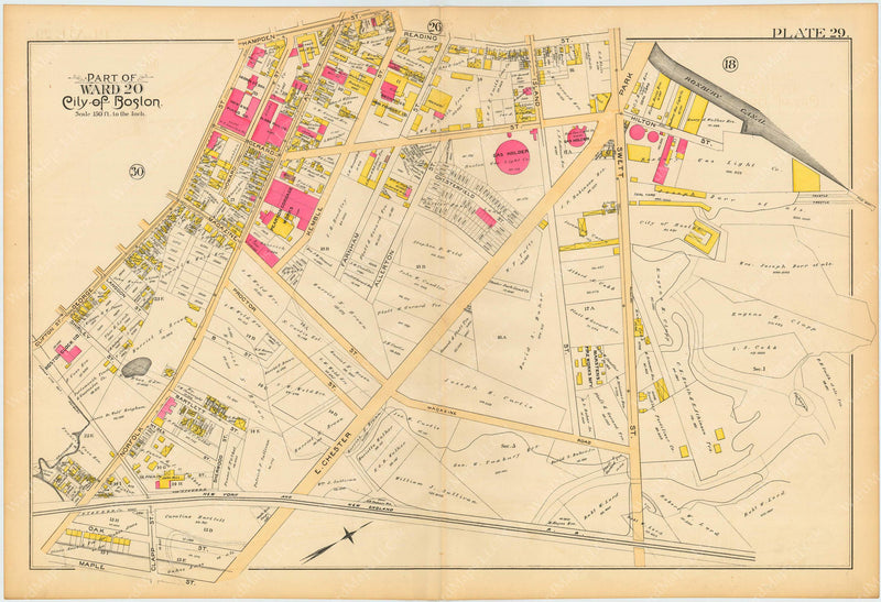 Boston and Roxbury, Massachusetts 1890 Plate 029
