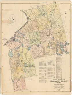 Maine Highway Atlas 1938: Penobscot County 4 of 6