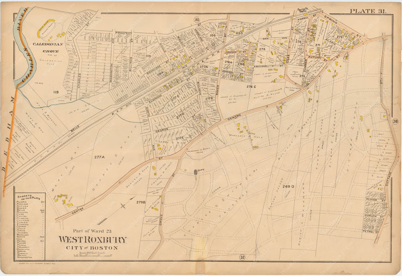 Dorchester, West Roxbury, and Brighton 1899 Plate 031: West Roxbury