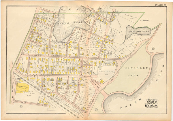 Cambridge, Massachusetts 1903 Plate 033