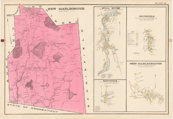 Berkshire County, Massachusetts 1904 Plate 039: New Marlborough