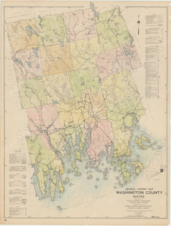 Maine Highway Atlas 1938: Washington County 3 of 4