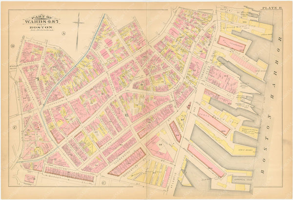 Boston, Massachusetts 1883 Plate B