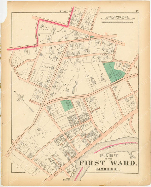 Cambridge, Massachusetts 1873 Plate C
