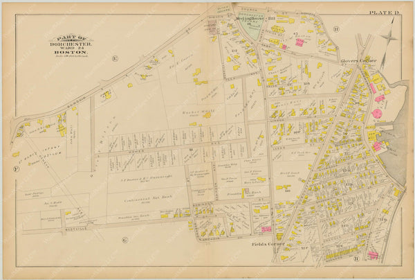Dorchester, Massachusetts 1884 Plate D