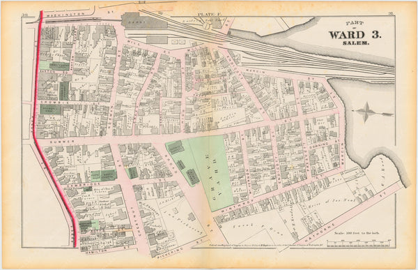 Salem, Massachusetts 1874 Plate F