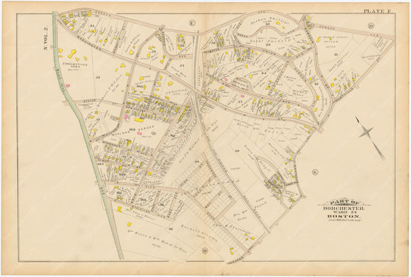 Dorchester, Massachusetts 1884 Plate F