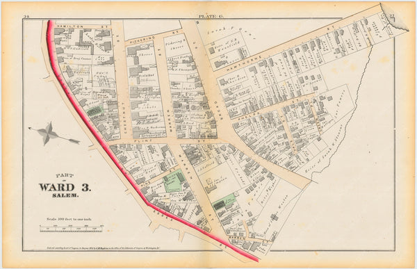 Salem, Massachusetts 1874 Plate G