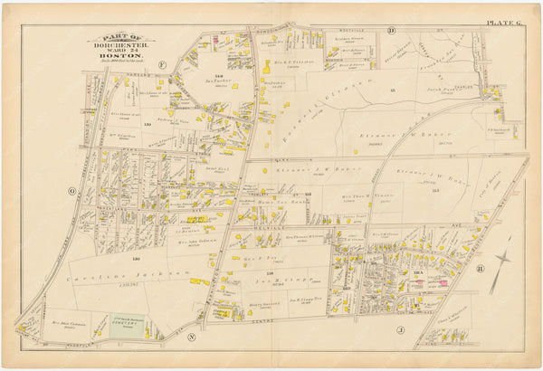 Dorchester, Massachusetts 1884 Plate G