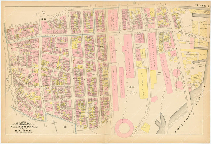 Boston, Massachusetts 1883 Plate I