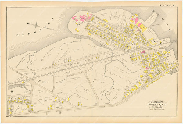 Dorchester, Massachusetts 1884 Plate I