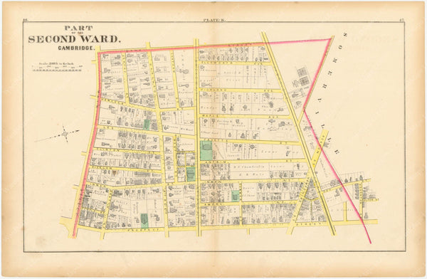 Cambridge, Massachusetts 1873 Plate K