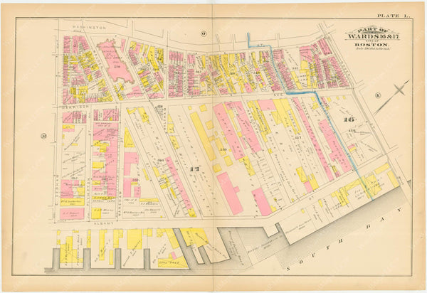 Boston, Massachusetts 1883 Plate L