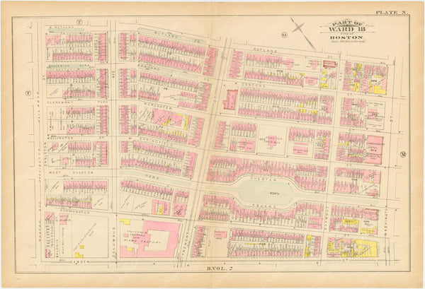 Boston, Massachusetts 1883 Plate N